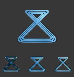 Blue line loop logo design set vector