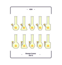 Bongs icon set two vector