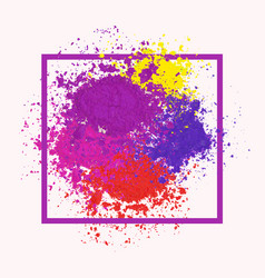 Bright colorful banner with powder splashes vector