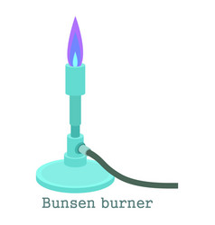 Bunsen burner icon cartoon style vector