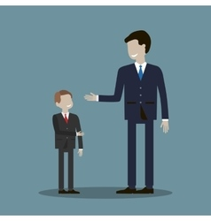 Businessman Shakes Hands with a Child vector image