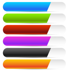 buttons banners in several color horizontal vector image