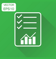 checklist graph icon business concept check vector image