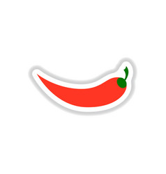 Chilli pepper sticker vector