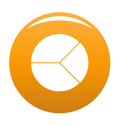 circle graph icon orange vector image