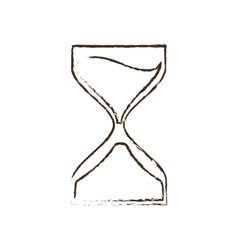 clock glass sand business clock money sketch vector image