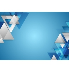 Corporate tech geometric background with triangles vector image