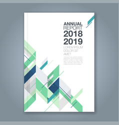 cover annual report 749 vector image