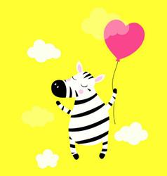 cute zebra isolated vector image