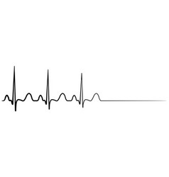 Death cardiac arrest cardio cardiogram vector