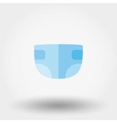 Diaper icon Flat vector image