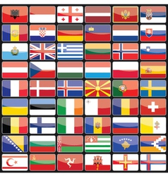 elements of design icons flags of the countries vector image