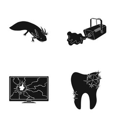 Exotic animal smoke and other web icon in black vector