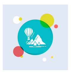 explore travel mountains camping balloons white vector image
