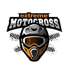 Extreme motocross logo vector