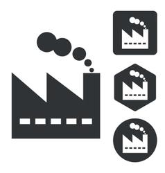 Factory icon set monochrome vector