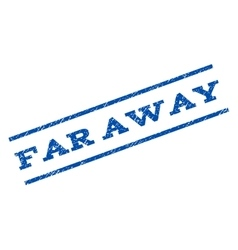 Far away watermark stamp vector