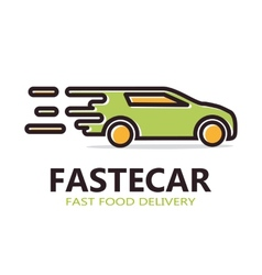 Fast delivery car logo vector image