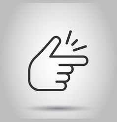 Finger snap icon in flat style fingers expression vector