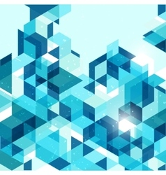 Geometric abstract background in blue vector image
