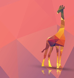 Geometric polygonal giraffe pattern design vector image