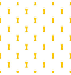 glass of beer pattern seamless vector image