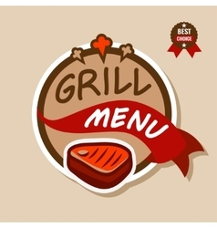 Grill menu logo 2 vector