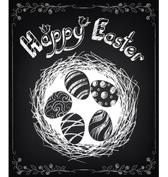 happy easter vintage design background vector image