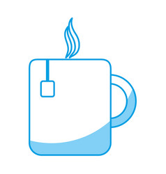 Hot coffee mug icon vector