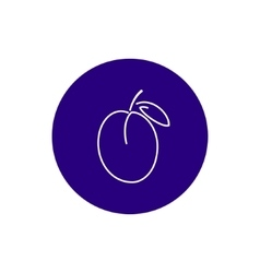 Icon Plum in the Contours vector image