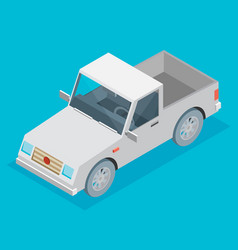 Isometric icon representing pickup vector