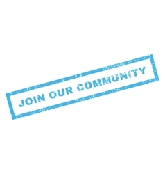 Join Our Community Rubber Stamp vector image
