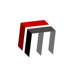 letter c m modern vector image