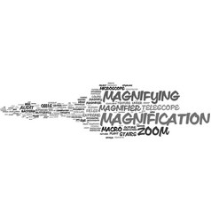 Magnification word cloud concept vector