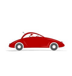 Man driving red sport car for your design vector image