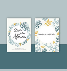 Mothers day colorful card with classic sketch vector