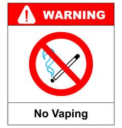 No vaping sign do not smoke electronic cigarette vector