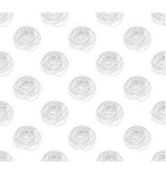 outline ranunculus on white background vector image