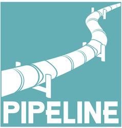 Pipeline sign - design vector
