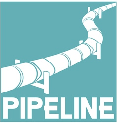 Pipeline sign - pipeline design vector