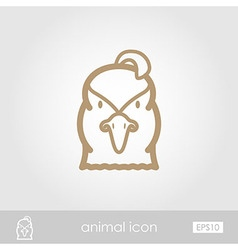 Quail outline thin icon animal head symbol vector