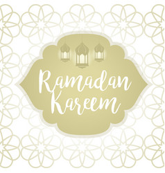 Ramadan kareem greeting vector