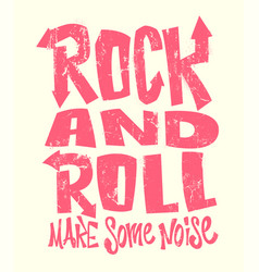 Rock and roll grunge print graphic design vector