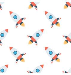 rockets seamless pattern vector image