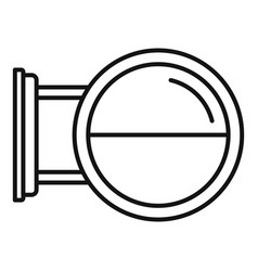 Round city light box icon outline style vector