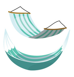 set cartoon hammocks collection hammocks on vector image