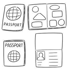 set of passport vector image