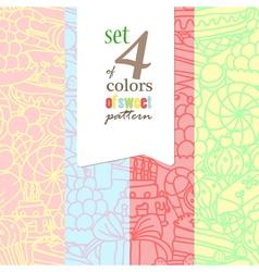 set sweet pattern vector image