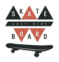 skateboard 014 vector image