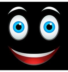 Smile emoticon sign vector